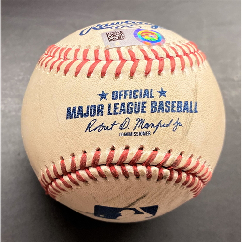 Photo of Game-Used Baseball:  Gerrit Cole New York Yankees Pitch to Miguel Cabrera (MLB AUTHENTICATED)