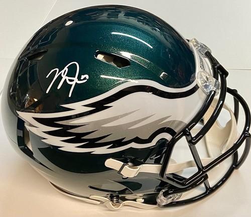 Photo of Mike Trout Autographed Authentic Speed Philadelphia Eagles Football Helmet