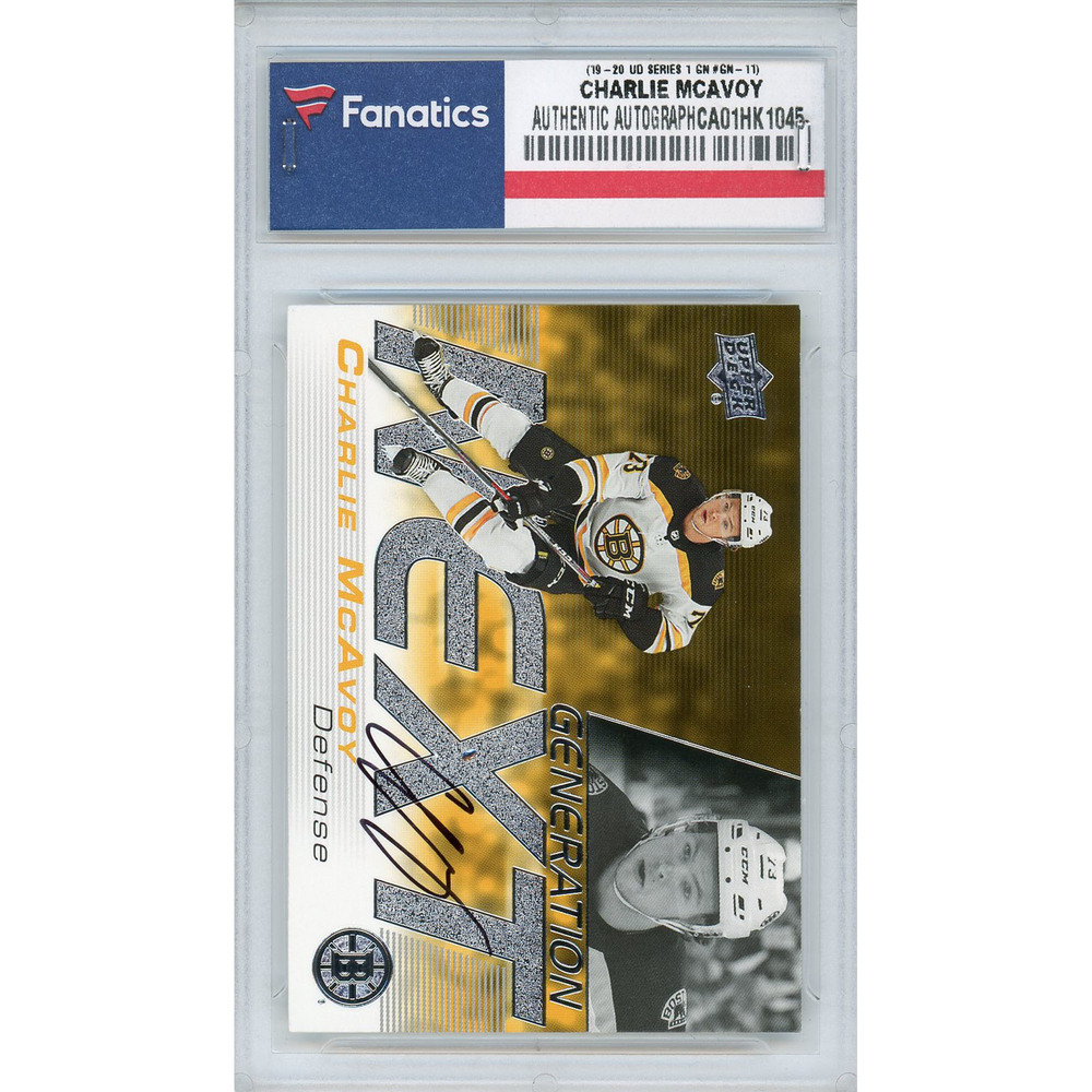 Charlie McAvoy Boston Bruins Autographed 2019-20 Upper Deck Series One Generation Next #GN-11 Card