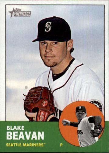 Photo of 2012 Topps Heritage #381 Blake Beavan