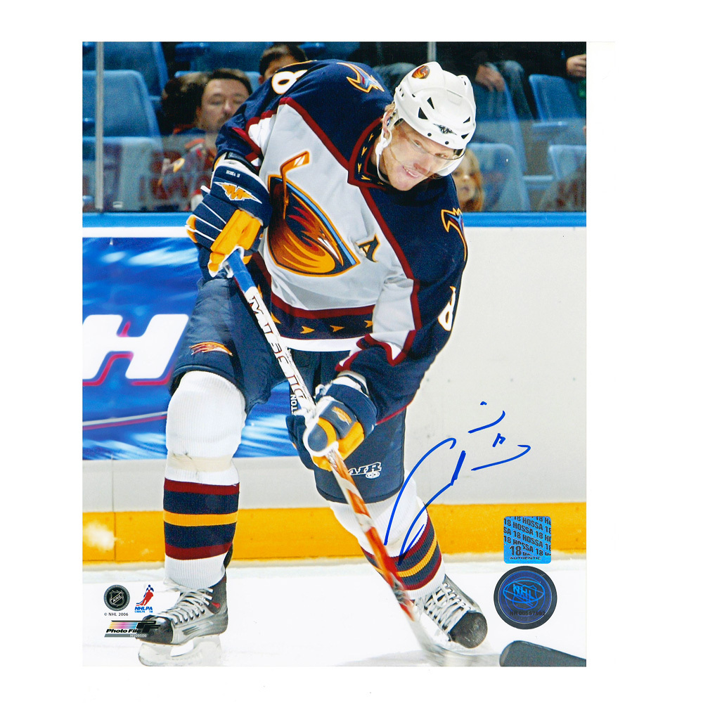 MARIAN HOSSA Signed Atlanta Thrashers 8 X 10 Photo - 70422