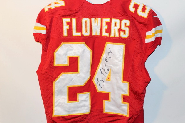 NFL Auction | CHIEFS BRANDON FLOWERS SIGNED AND GAME USED JERSEY ...