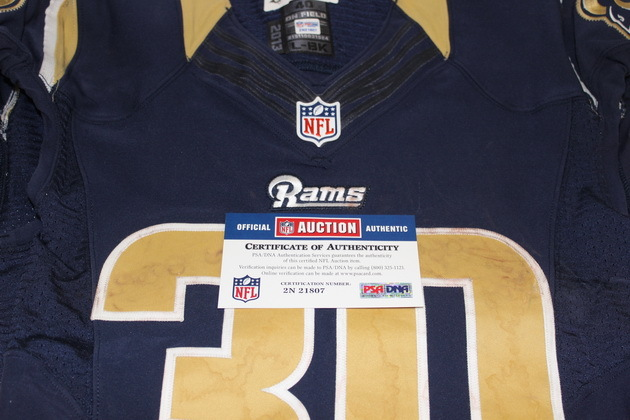 brand new 897ee c9712 NFL Auction | RAMS - TODD GURLEY GAME WORN RAMS JERSEY ...