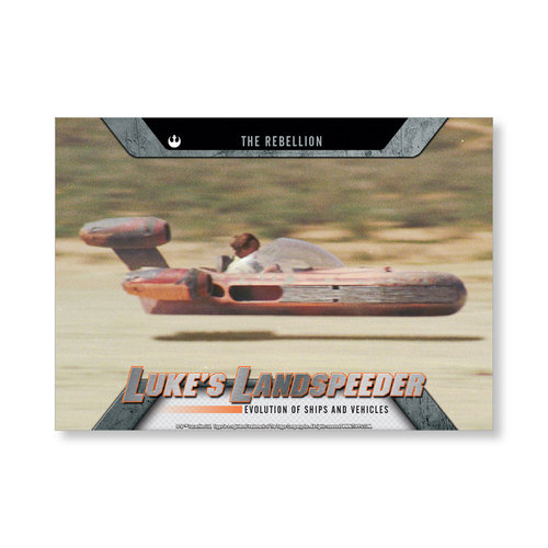 2016 Star Wars Evolution Luke'sLandspeeder EVOLUTION OF VEHICLES AND Ships Poster - # to 99