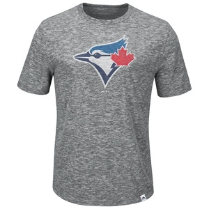 Toronto Blue Jays Big & Tall Fast Pitch T-Shirt Grey by Majestic