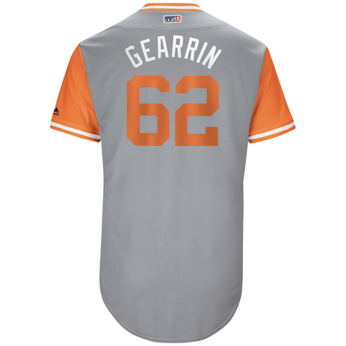 "Photo of Cory ""Gearrin"" Gearrin San Francisco Giants 2017 Game-Used Players Weekend Jersey"
