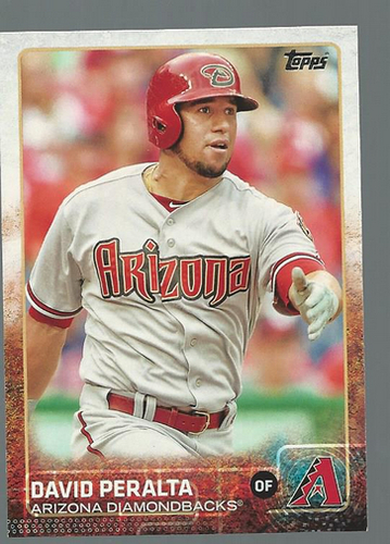Photo of 2015 Topps #260 David Peralta Rookie Card -- D'backs post-season