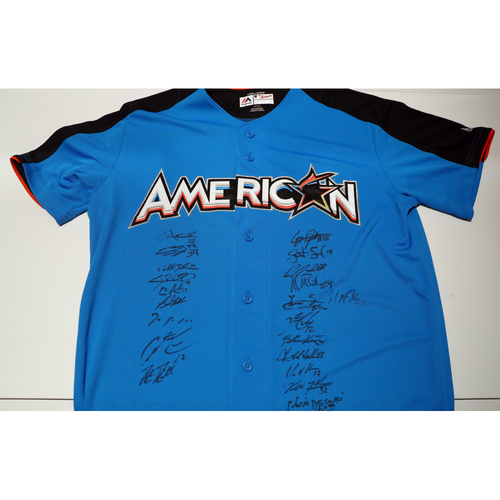 Compton Youth Academy Auction: 2017 ASG Jersey Signed by the American League All-Stars - Not Authenticated by MLB