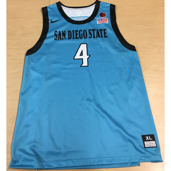 Photo of Game-Worn SDSU Nike N7 Native Night Basketball Jersey: Turquoise #04