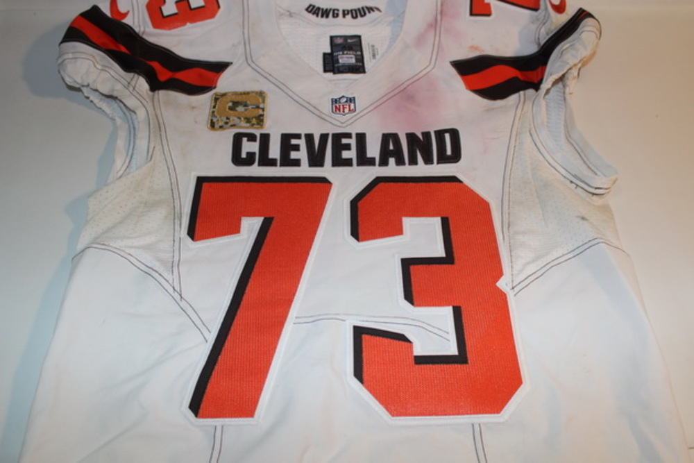 cleveland browns game used jersey