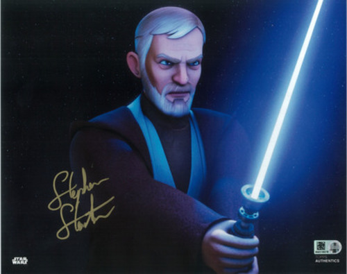 Stephen Stanton as Obi-Wan Kenobi 8x10 Autographed in Gold Ink Photo