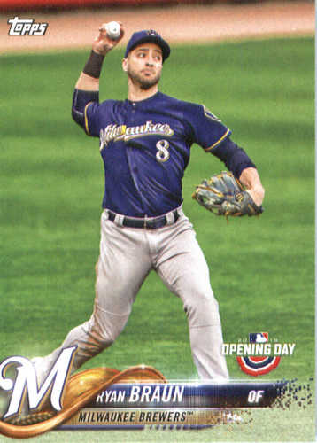 Photo of 2018 Topps Opening Day #62 Ryan Braun