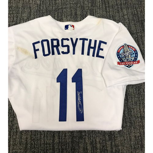 Photo of Kirk Gibson Foundation Auction: Logan Forsythe 2018 Game-Used Autographed Los Angeles Dodger Jersey