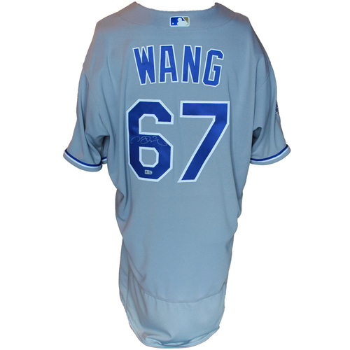 Photo of Autographed Gray World Series Jersey: Chien-Ming Wang