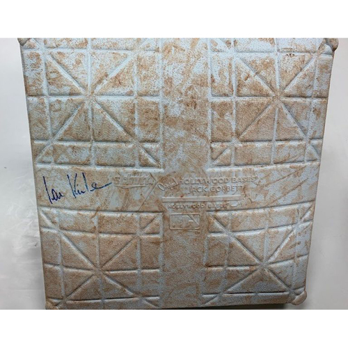 Photo of Autographed Game-Used Base: Ian Kinsler