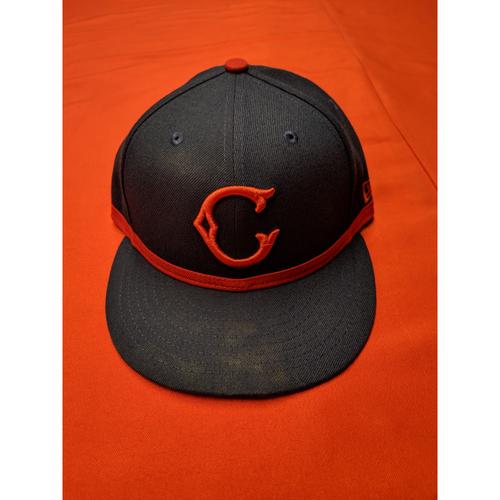Jose Peraza -- Game-Used Cap -- 1911 Throwback worn 5/5/19 (Starting 2B, 1-for-4)