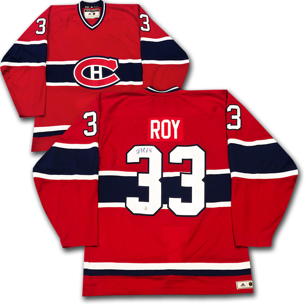Patrick Roy Autographed Montreal Canadiens adidas Team Classics Authentic Vintage Jersey