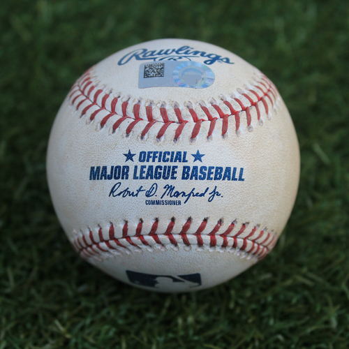 Photo of Game-Used Baseball: Miguel Cabrera 2,802nd Career Hit (DET @ KC - 9/4/19)