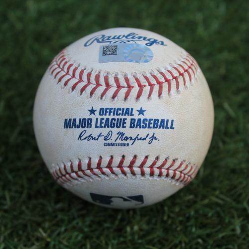 Game-Used Baseball: Miguel Cabrera 2,802nd Career Hit (DET @ KC - 9/4/19)