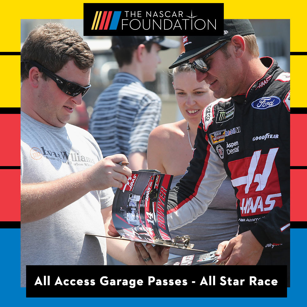 Two All Access NASCAR Garage Passes at NASCAR All Star Race !