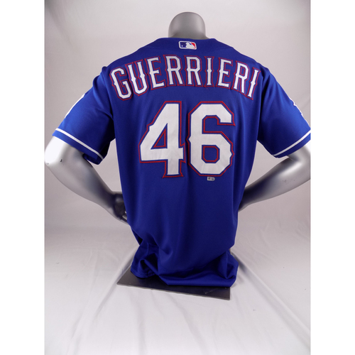 Photo of Final Season Game-Used Blue Jersey - Taylor Guerreri - 9/6/19