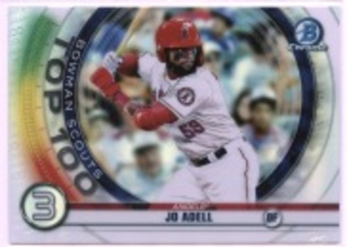 Photo of 2020 Bowman Chrome Scouts Top 100 #BTP3 Jo Adell