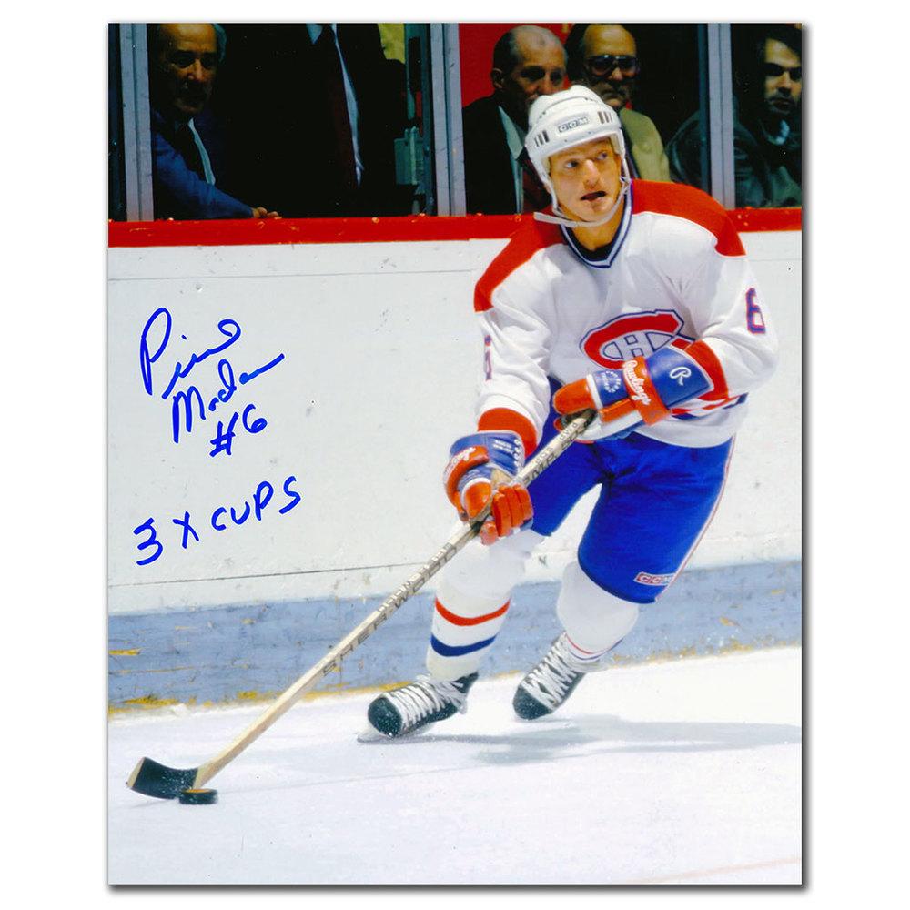 Pierre Mondou Montreal Canadiens 3 CUPS Autographed 8x10