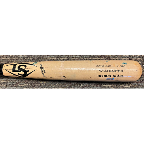 Photo of Willi Castro Detroit Tigers Game-Used Cracked Bat (MLB AUTHENTICATED)
