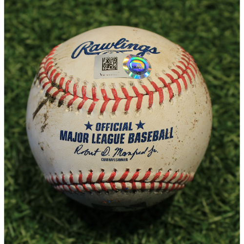 Photo of Game-Used Baseball: Gregory Polanco 619th Career Hit (PIT @ KC 9/12/20)