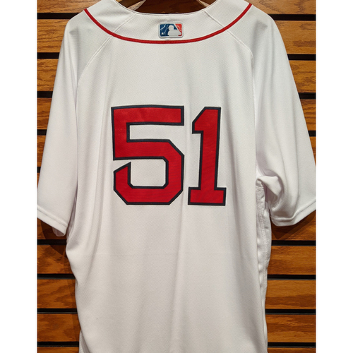 Photo of Coach Tim Hyers #51 Team Issued Home White Jersey