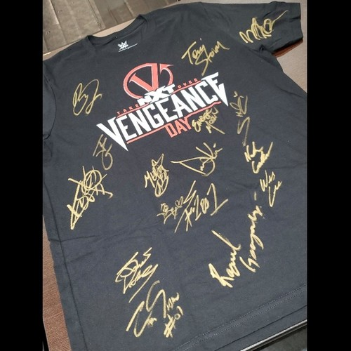 Photo of SIGNED NXT TakeOver Vengeance Day Logo Shirt