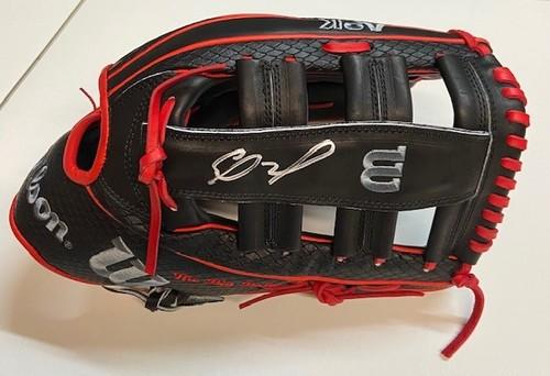 Photo of Eloy Jimenez Autographed Game Model Wilson Custom A2K Fielding Glove