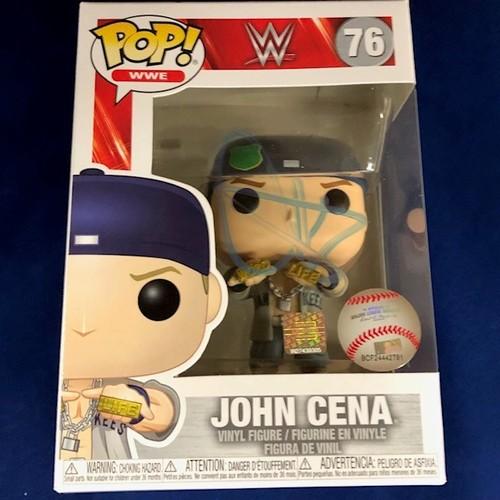 Photo of John Cena SIGNED POP! Vinyl Figure