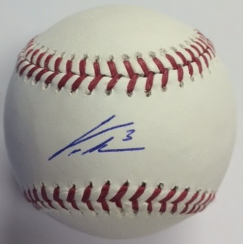 Photo of Curtis Granderson Autographed Baseball
