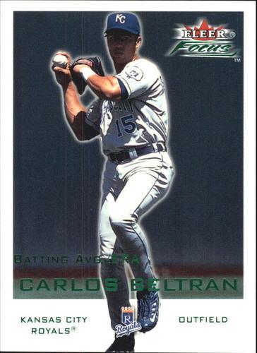 Photo of 2001 Fleer Focus Green #186 Carlos Beltran/247