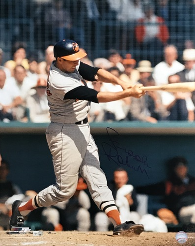 Brooks Robinson Autographed 16x20 Photo (Batting)