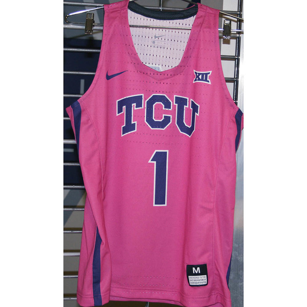 Photo of Women's Basketball Pink Game Worn Nike® Jersey #1 (M)