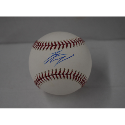 Shohei Ohtani Autographed in Blue Ink Baseball