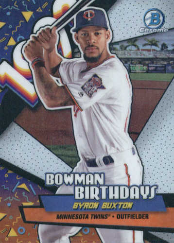 Photo of 2018 Bowman Chrome Bowman Birthdays Refractors #BBBB Byron Buxton