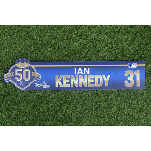 Photo of Game-Used Locker Nameplate: Ian Kennedy