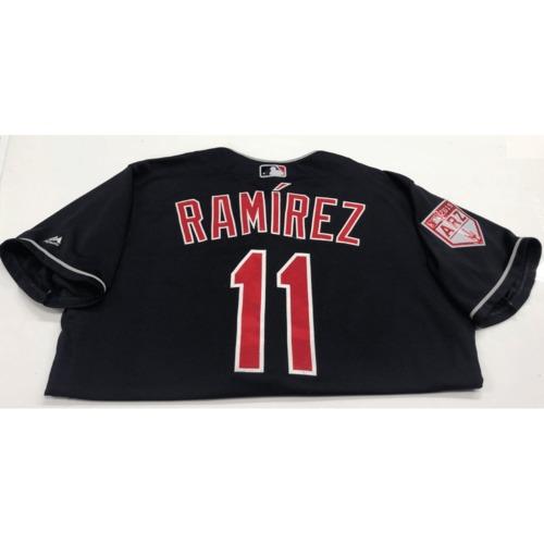 Photo of Jose Ramirez Game-Used 2019 Spring Training Jersey