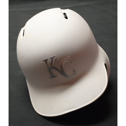 "Photo of Humberto ""Arty"" Arteaga Kansas City Royals Game-Used 2019 Players' Weekend Helmet"
