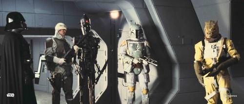 Darth Vader, Boba Fett, Bossk, Dengar and IG-88