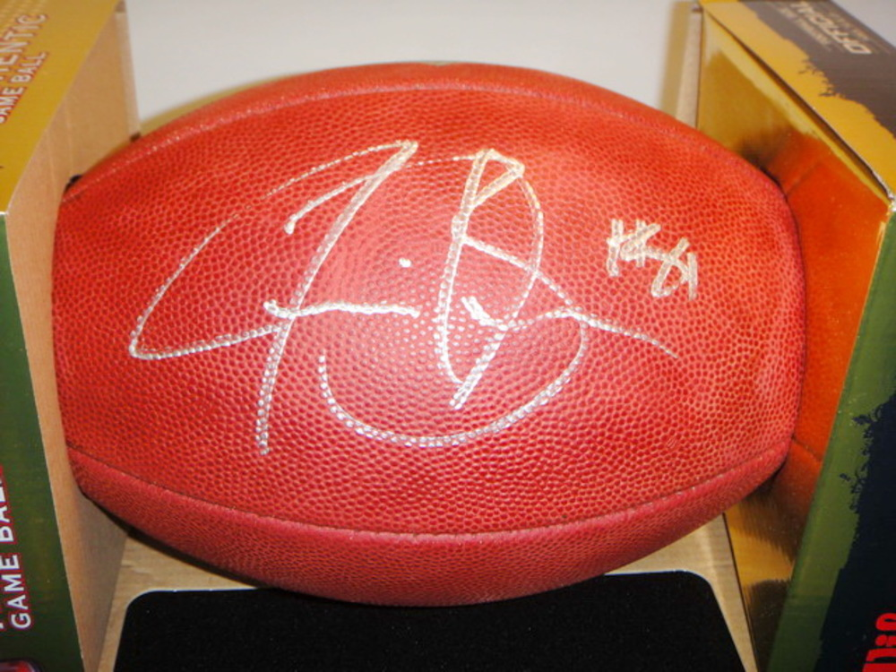 NFL - JAGUARS JUSTIN BLACKMON SIGNED AUTHENTIC FOOTBALL