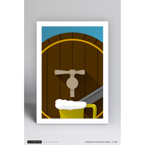 Photo of County Stadium - Minimalist Ballpark Art Print by S. Preston  - Milwaukee Brewers