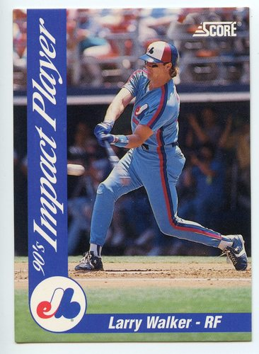 Photo of 1992 Score Impact Players #29 Larry Walker