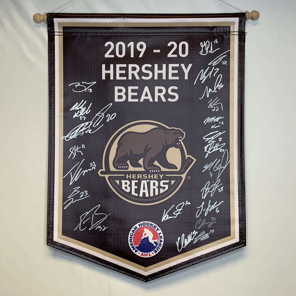 2019-20 Hershey Bears Pack Team-Signed Banner