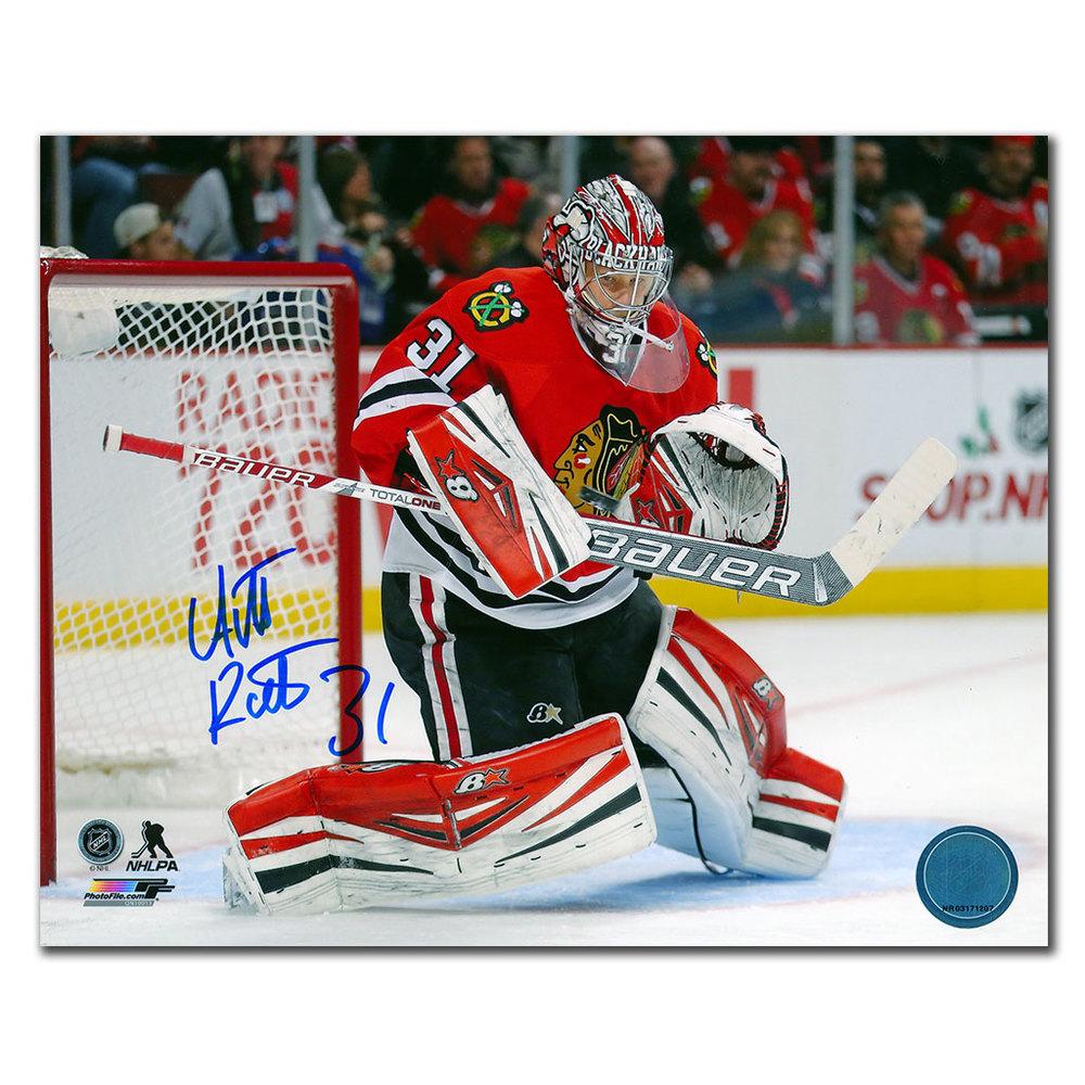 Antti Raanta Chicago Blackhawks Blocker Save Autographed 8x10
