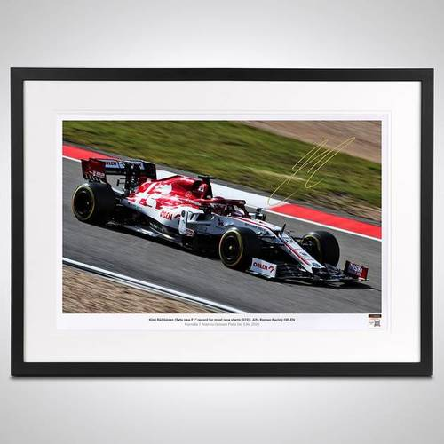 Photo of Kimi Raikkonen 2020 Framed Signed Photo - German GP