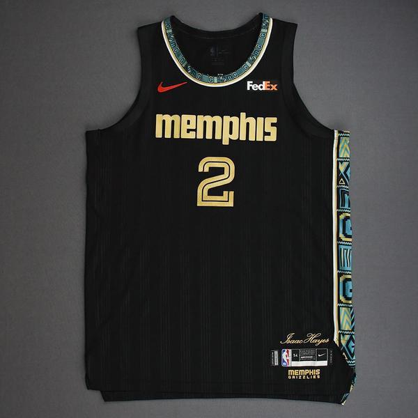 Image of Xavier Tillman - Memphis Grizzlies - Game-Worn City Edition Jersey - 2021 NBA Playoffs